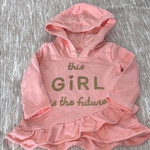 Carter's Cute Pink Hooded Lightweight Sweatshirt